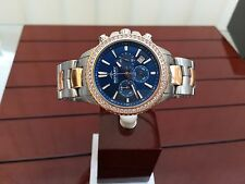 Ladies Rotary AQUASPEED watch Blue Swarovski Crystals ALB90087/C/05 Rose Gold pl