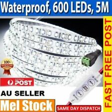 600 LED's Waterproof LED Strip Lights Cool White 12V 5M 3528 SMD For Car Caravan