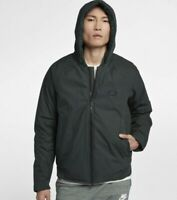 Nike Down Fill Bomber Jacket with Hood 866022-332 Green Small