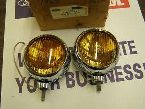 NOS OEM Ford 1965 1968 Bumper Fog Lamp Kit Galaxie Mustang Truck 1966 1967 Light