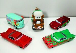 Disney Cars Mater Saves Christmas Holiday Die Cast Ramone McQueen Filmore 1:55