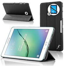 De Cuero Negro Smart Funda Protectora Samsung Galaxy Tab S2 8.0 T710 Pantalla Prot Stylus
