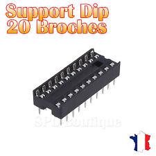20x Support DIP 20 Broches pour Circuit Intégré
