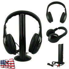 5IN1 Wireless Bluetooth Casque Hi-Fi Radio Headset Stereo Headphone Earphone US