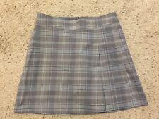 Nike Golf Dri-Fit Blue/Gray/White Plaid Skort size 6 Pleated skirt/shorts A99