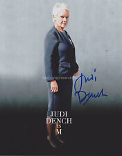 Judi Dench HAND Signed 8x10 Photo Autograph 007, M, Exotic Marigold (D)