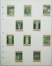 10 Czechoslovakian Match Box Labels Forestry Lesnim Zavodum