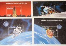GABON GABUN 1999 Block 97-100 940-943 Space Exploration Mondlandung Weltraum MNH