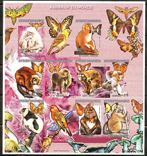 MADAGASCAR 1999 ANIMALS BUTTERFLIES BIRDS BEAUTIFUL S/S SHEET MNH IMPERF