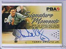 PBA Bowling Signature Moments Tommy Delutz Jr Autograph