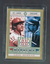 LEON DURHAM #R13 cubs / cardinals Rivalry Gold 2013 Panini Hometown Heroes