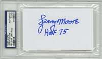 Lenny Moore SIGNED 3x5 Index Card + HOF 75 Baltimore Colts PSA/DNA AUTOGRAPHED