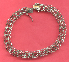 """Vintage Sterling Charm Bracelet - All Features  - 7 1/2"""" by Elco"""