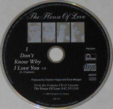 House of Love  I Don't Know Why I Love You   U.S. promo cd