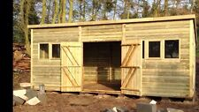 """20x10 19mm t&g LOG Tanalised """"DULUXE HEAVY DUTY"""" PENT Shed/Workshop"""