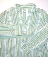 GH Bass Women's Long Sleeve Half Button V-Neck Tunic Blouse Size XL