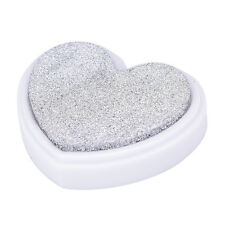 NEW Heart Shape Ink Pad Oil Based Rubber Stamp For Paper Fabric Inkpad Carft M&O