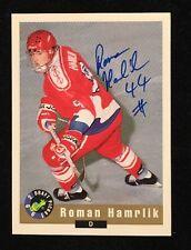 ROMAN HAMRLIK 1992 CLASSIC MINOR AUTOGRAPHED SIGNED AUTO HOCKEY NHL CARD