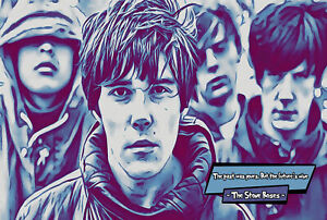 The Stone Roses Comic Icons Art Print (Available In 4 Formats)