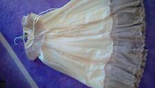 Vintage Baptismal ivory gown 12 mos w bonnet