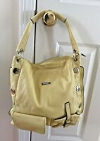 VITTORIO Purse Yellow with Silver Hardware with Cloth Dust Bag