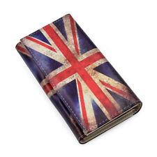 Premium Vintage Union Jack UK British Flag Print PU Leather Continental Wallet