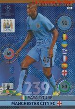 347 YAYA TOURE MANCHESTER CITY.FC  CARD CHAMPIONS LEAGUE ADRENALYN 2015 PANINI
