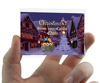 CHRISTMAS CAROLS CARD GAME Xmas Party Family Work Fun Secret Santa Lyrics Hymns