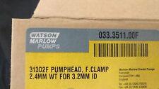 WATSON MARLOW 313D2F PUMPHEAD F,CLAMP 2.4MM WT FOR 3.2MM ID NEW