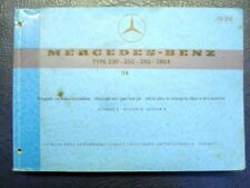 MERCEDES BENZ TYPE-230-250-280-280E ILLUSTRATED SPARE PARTS GUIDE - ref: 10218