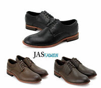 Mens Oxford Smart Casual Shoes Lace Up Formal Derby Office Wedding Size UK 6-11
