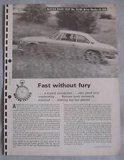 1966 ISO Rivolta IR-300 Original Motor magazine Road test