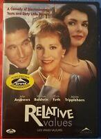 Relative Values [DVD] (2001) Julie Andrews William Baldwin (Brand New)