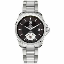 AUTHENTIC TAG HEUER GRAND CARRERA WAV511A.BA0900 AUTOMATIC BLACK WATCH WARRANTY