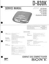 Sony Original Service Manual per d-830k