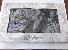 Brighton Black, White & Always Right Scarf- Butterfly & Floral- Silk