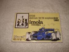 Vintage 1982 Imola Ceramica Tile Detroit Grand Prix Tyrrell Formula One Racing