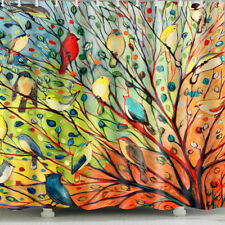 1 Pc Waterproof Colorful-Bird-on-Tree Shower Curtain for Home and Bathroom