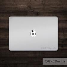 Harry Potter - Mac Apple Logo Laptop Vinyl Decal Sticker Macbook Glasses