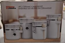 BN Sealed in Manufacturer box Four Airtight White Storage Canisters Ceramic Set