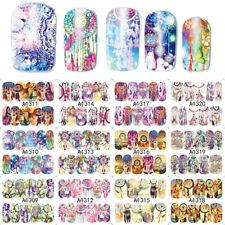 12 Blatt Colorful Nail Art Nagelfolie Nagel Schablone  Nagelaufkleber Decals`