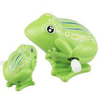 1 Stück Wind up Frosch Kunststoff Springen Tier Klassische pädagogische UhrwerkN