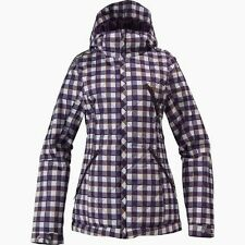 BURTON Women's MAN EATER Snow Jacket - Toke Grey Plaid - Size 9 - NWT