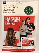 "Christmas Holiday Party Backdrop Banner ""Have Yourself A Merry Little Hangover"""