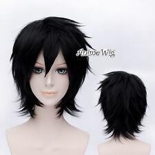 For Big Hero 6 Hiro Hamada Black Short 30CM Layered Basic Anime Cosplay Wig