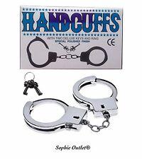 Novedad Acero Metal Handcuffs Teclas + esposas gallina sexo ayuda Stag noche policía