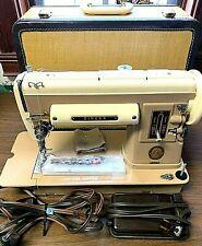 Vintage Singer Slant Needle Sewing Machine 301A Foot Pedal Case Manual 1956 Euc