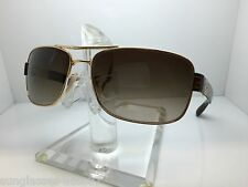 AUTHENTIC RAYBAN  RB 3522 001/13  RAY BAN RB3522 64MM GOLD/BROWN GRADIENT LENS