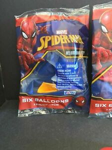 """6-pack Marvel Ultimate Spider-Man 12"""" Assorted Color Balloons NEW"""