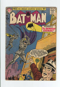 BATMAN #111 G/VG - VERY EARLY SILVER AGE - The ARMORED BATMAN - 1957